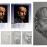 Captain Flint portrait process