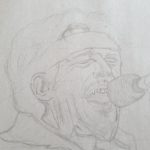 Quick Bruce Speingsteen sketch in progress